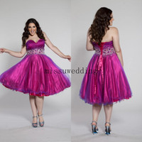 Reference Images Sweetheart Tulle Best selling Elegant Sweetheart Lovely A line Knee length Tulle bandage Corset Evening gowns Short prom dress Cocktail dress Pageant dress P