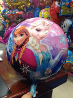 Wholesale In stock Frozen x45cm balloon for birthday party Princess Anna Elsa inch round Aluminum foil cartoon helium balloons