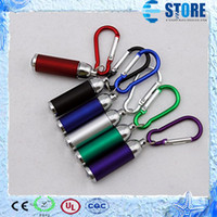 Wholesale Mini LED Flash Light Torch Flashlight Emergency Keychain Color M