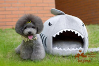 Wholesale 3PCS Luxurious kojima Shark mouth pet dog cat house Removable And Washable designer dog bed kennel
