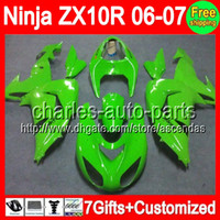 7gifts+ Customized For KAWASAKI NINJA ZX10R 2006- 2007 Glossy ...