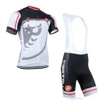 Wholesale team castelli mens bicycle clothing new limited edition short bib set cycling jacket padded cycle shorts gel padded bib pants