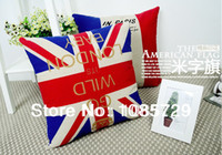 Wholesale Luxury decoration cotton and linen fabric pillow cover cushion cover pillow case UK national flag pattern CM quot X18 quot TH8103