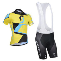 Wholesale new color scott team cycling suit good quality D bib padded cycling shorts cycling shirt cycling shorts bicycle pants