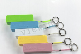 Wholesale Universal mAh Power charger with key chain perfume mini external Backup PowerBank Charger Battery color freeshipping