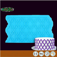 cake decoration - Food Grade Onlays D Stencils Mat Moroccan Lattice Instant Lace Border Gumpaste Mold Wedding Fondant Cake Decoration Tool FS N70