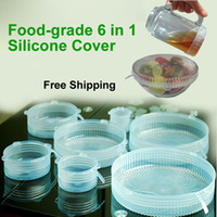 Wholesale Food grade Silicone Cover Set in1 Transparent Insulation Retain Freshness Cover Household Supplies Silicone Mold Supply