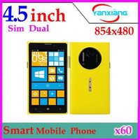 Wholesale DHL NEWEST HTM T1020 MTK6572 Dual Core GHz Inch Smart Phone Dual SIM FWVGA Screen Android YX PH