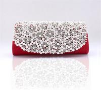 Clutch rhinestone handbags - Pearl Rhinestone Handbag Clutch Wedding Party Prom Purse Evening Bag Multicolor