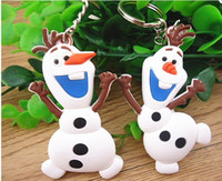 Frozen Snow Romance Snow treasure Olaf Sided keychain free s...