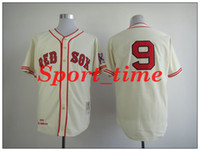 Men best baseball fans - Retro baseball jerseys Ted Williams red sox cream stitched home jersey best players wear fans apparel discount outdoor sports jerseys