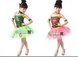Wholesale New fashion children Peacock Dance Ballet gauze costumes dress stage wear gilrs s costume clothes clothing dance zxt001