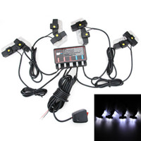 Wholesale 16 LED Emergency Vehicle Strobe Lights Bars Warning Deck Dash Grille White