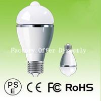 Wholesale 5W LED BULB intelligent LED sensor lamp AC V W High Power LED Light E27 LED Bulb Best Sale in USA Japan with Perfect Quality