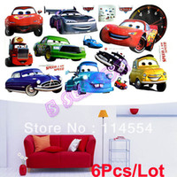 Wholesale Hot Sale New Removable Cartoon Car Pattern Wall Sticker Art Children Kids Room Decor