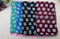 Wholesale ladies printe design flower shawls cotton voile long plain fashion wrap plain muslim scarves scarf