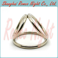 Steel Stainless Steel Big Ring Dia: 6cm. Small Ring Dia: 4.5cm Cock Cage Stainless Steel Time Delay Rings, Penis Rings, Great Sex Toy for Men, Adult Sexy Products