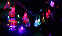 LED Christmas Non Waterproof led light 60 Colorful Water-drop Christmas LED Decoration Light , good for Home Garden Street Party Wedding, 10M String, Free shipping