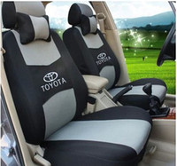 Wholesale quot Generic car version quot Seat Cover For TOYOTA Corolla Camry Rav4 Seat Cover With Thickening Sandwich Meterial Logo