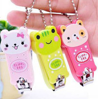 Wholesale New nail clippers Cute Cartoon Animal Bright Color nail scissors Good Gift For Everyone Personal Accessoires