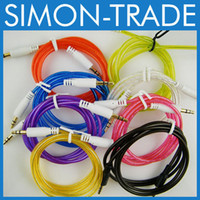 Wholesale 3 mm to mm Color Colorful Audio Stereo Aux Cable For phone Samsung Mp3 Mp4 iPod PC mm Jack