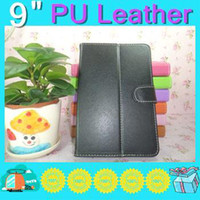 Cheap China price holster colorful Leather Case cover for 9 inch Android tablet pc with belt withw LN01-2