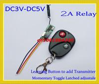 Interruptor de mando a distancia DC3V 3.7V 4.5V 5V Mini remoto de pequeño volumen ON OFF Sistema 315 / 433.92MHZ 2A Relay Remote System