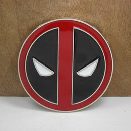 Wholesale Deadpool belt buckle with silver finish FP with continous stock