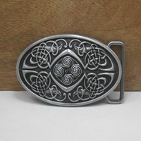 Buckles belt buckle celtic - BuckleHome western celtic belt buckle with pewter finish FP with continous stock