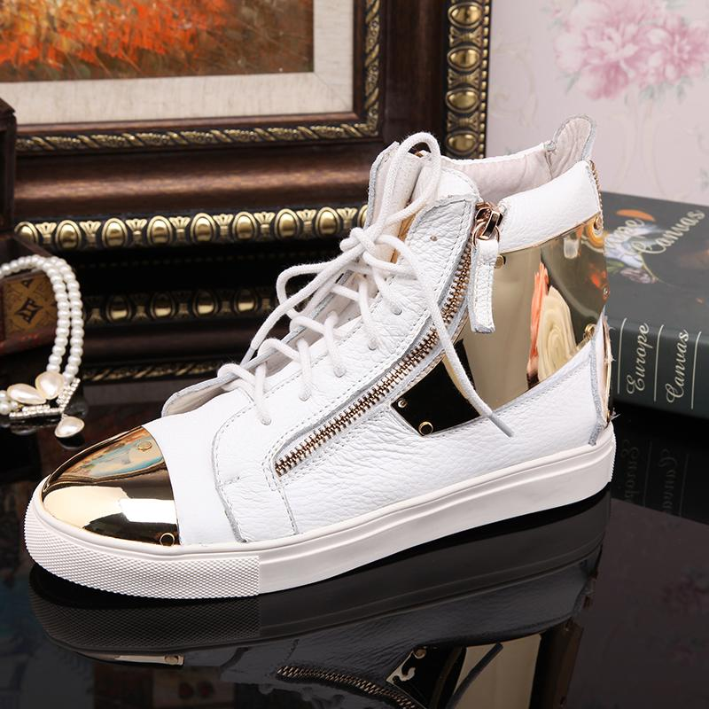 Womens Velcro Strap Heel High Top Leopard Fashion Sneakers Shoes