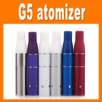 Electronic Cigarette Atomizer tell us the colors Ago G5 Atomizer Clearomizer Dry Herb Vaporizers Wind proof for eGo electronic cigarette G5 Pen Style E cig colorful DHL free
