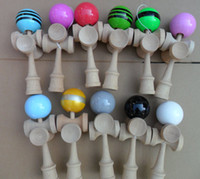 Wholesale Via Fedex CUP Kendama Ball Japanese Traditional Wood Game Kids Toy PU Paint amp Beech