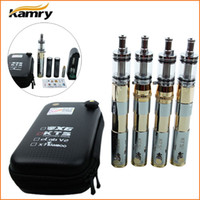 Electronic Cigarette Set Series  KTS Electronic Cigarette Vape Mod Kamry Vaporizer X8 Atomizer 3.0ML Rebuildable EGO Tank 2000mah 18650 Battery With Zipper Case X6 Ecab V2
