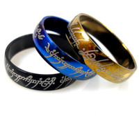 Wholesale 50pcs Stainless Steel LORD OF THE RINGS mm Width HOT selling Fashion Jewelry FREE SHIPPINHG