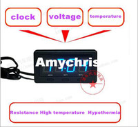 35 mm automotive electronic accessories - High quality car LED clock Resistance High temperature Hypothermia Voltmeter thermometer Automotive electronic watch