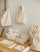 Fabric Cotton as pic 2 yards Cotton cloth fabric 100% cotton canvas solid color sofa set bags beige cotton fabric plain for bag DIY H116