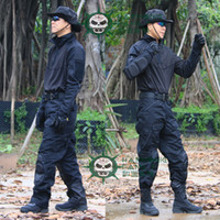 Wholesale Tactical Army Military uniform Combat Suit amp Pants black