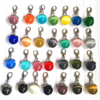 Wholesale mixed colors NEW Floating opal DANGLES for Living Locket Necklace Charm Jewelry floating charms OPD060