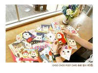 Wholesale Cute cat card greeting cards postcards individually wrapped different styles shipped randomly