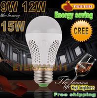 Wholesale Energy saving High brightness LED bulb W W W V E27 B22 led lamp cold warm white smd led Light spotlight