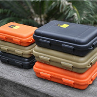 Plastic camping waterproof box Eco Friendly Free shipping EDC waterproof plastic tactical defense pen box, shockproof pressure-proof sealed case 165 * 105 * 55mm