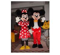 Mickey y Minnie Mouse traje de la mascota del vestido de lujo de Halloween un Par