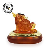 Wholesale New arrival eddie car perfume seat gold full house amber colored glaze car decoration gift set