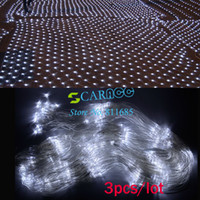 Wholesale 3PCS Christmas Wedding Party LED String Light Twinkle Lighting Net Mesh Decorative Fairy Lights White EU TK0580