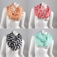 Wholesale 2014 new hot Fashion Wide Chevron Wave Print Circle Scarf Loop Infinity Ladies Scarves