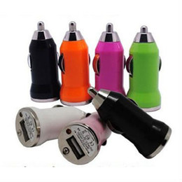 cheapest Colorful Bullet Mini USB Car Charger Universal Adapter 1A 1000mA car charger for iphone 4 4S 5 5c Cell Phone PDA MP3 MP4