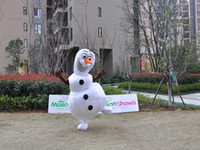 Mascot Costumes People Christmas Wholesale, 2nd Version Frozen Olaf Snowman Mascot Costume for Adult Fancy Dress Costume, Free Shipping