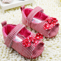 beach stripe fabric - 2014 sweet princess baby sandals Red stripes toddler shoes Cute bow beach sandals Chinese shoe shops baby wear online sale pair CL