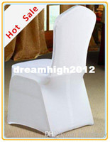 Wholesale Fedex HOT SALE Spandex lycra Chair Cover White Polyester Chair Cover