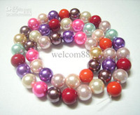 Wholesale 5pcs Loose Glass Pearl Round Beads Fit DIY Craft Jewelry mm Mix colors MP05